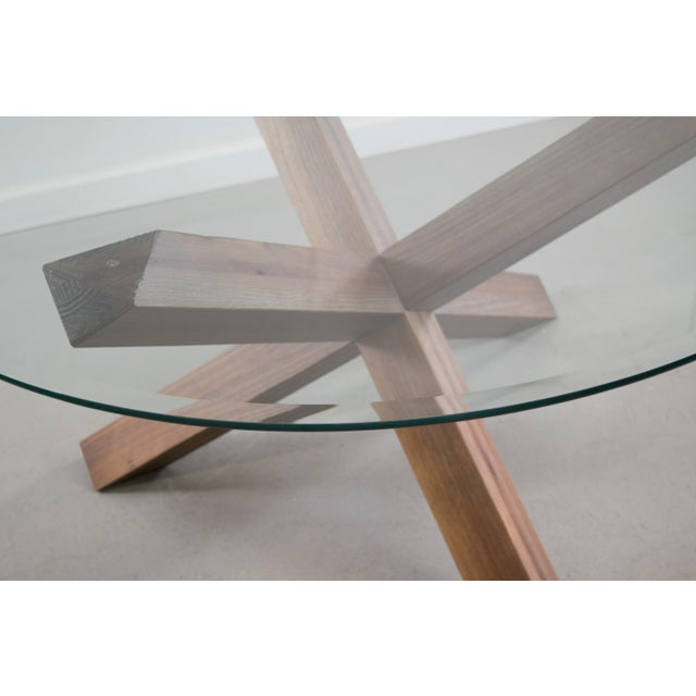 Sculptural Cerused White Oak Dining Table Attributed to Ralph Lauren - Image 3 of 11