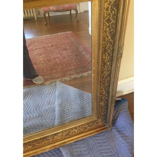 Antique Gilt-Wood Hand-Carved Mirror - Image 6 of 8