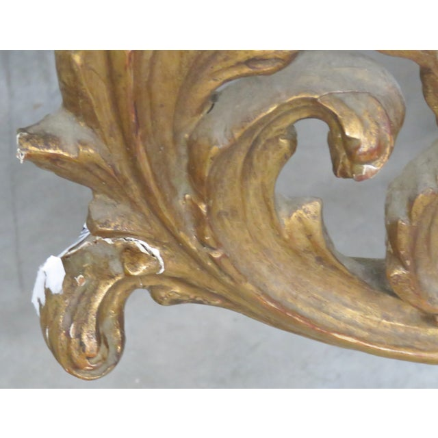 Italian Gilt Carved Wall Mirror - Image 5 of 6