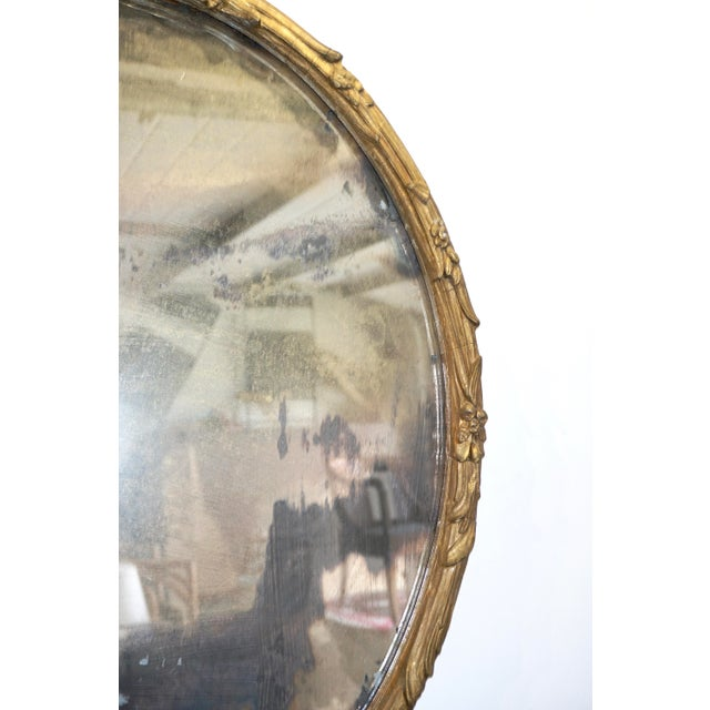 Boho Chic Giltwood Oval Mirror For Sale - Image 4 of 9