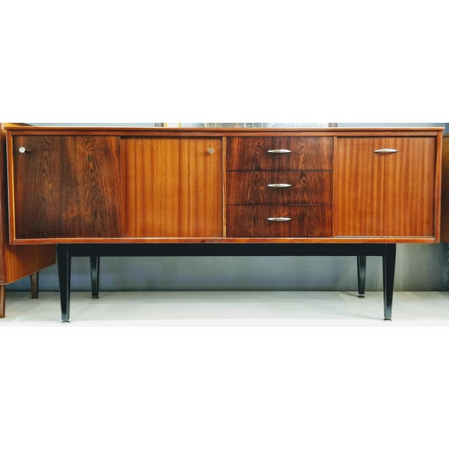 1960s Danish Modern Jentique Furniture Tola and Rosewood Credenza For Sale - Image 12 of 12
