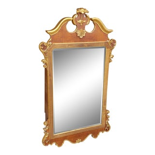 1970's Vintage Labarge Burlwood & Gilt Mirror For Sale