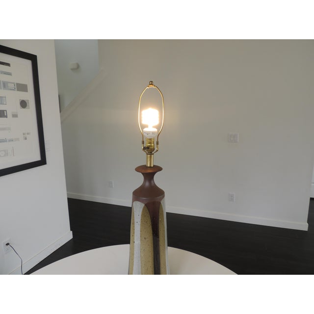 1960s David Cressey Pottery Table Lamp For Sale - Image 11 of 12
