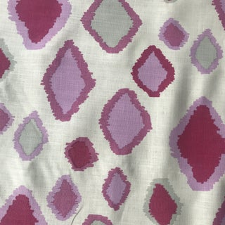 Amanda Nisbet Handprint Linen Fabric - 2 Yards For Sale