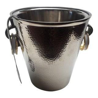 Modern Nickel Ice Bucket
