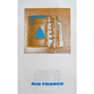 1971 Air France Poster, Egypte (Egypt) For Sale