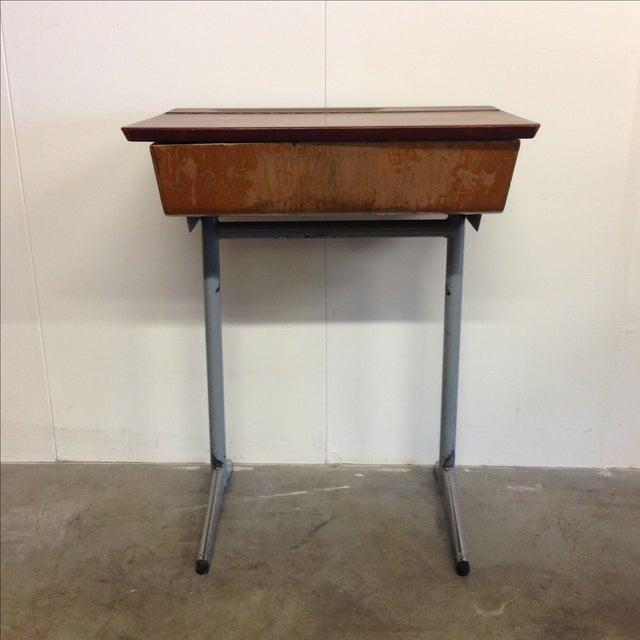 Vintage French Child's School Desk - Image 2 of 7