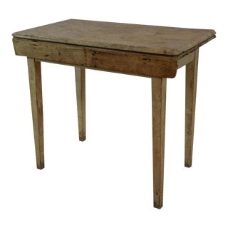 Vintage White Marble-Top Table For Sale