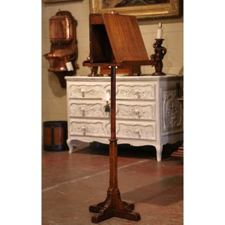 19th Century French Carved Pine and Oak Lectern Book Stand With Plaque of Origin Preview
