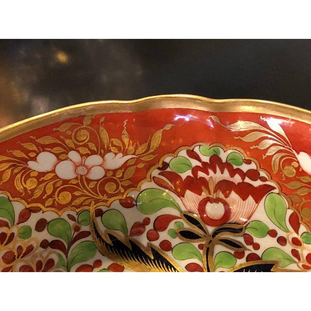 English Worcester Porcelain Imari 19th Century Continental Circular Bowl For Sale - Image 10 of 11