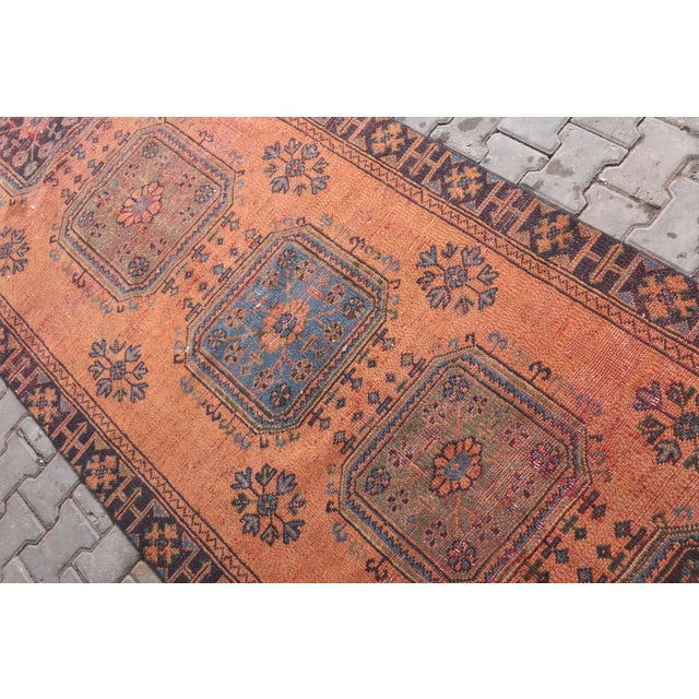 """1960's Vintage Turkish Hand-Knotted Wide Runner Rug - 4'1"""" X 11'5"""" For Sale - Image 4 of 11"""