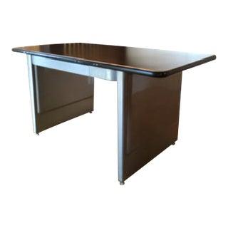1960s Mid Century Modern Metal Tanker Desk For Sale