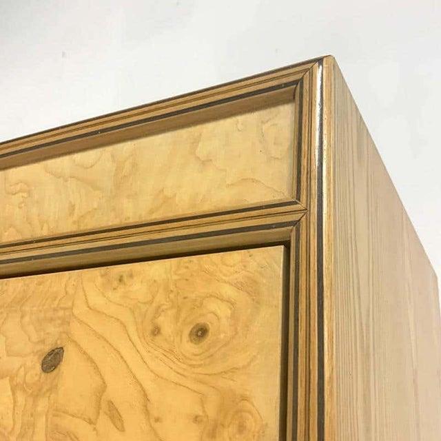 Henredon Henredon Olive Burl Burled Wood and Macassar Dresser Cabinet Shelving Wardrobe For Sale - Image 4 of 9