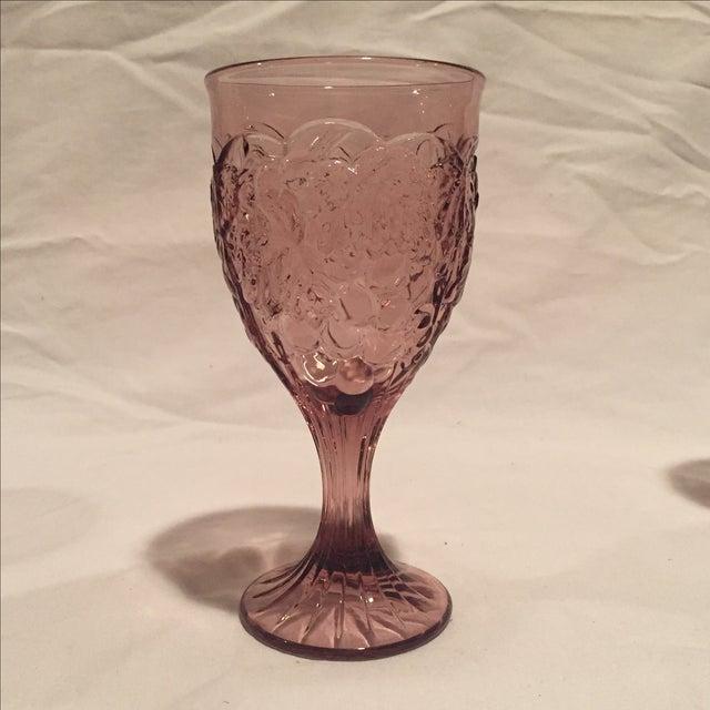 Amethyst Grape Motif Goblets - Set of 8 - Image 4 of 6