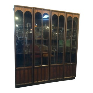 Mid Century Modern Walnut Cabinets - a Pair For Sale