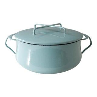 Dansk Kobenstyle Turquoise Enamel Dutch Oven Pot Jens Quistgaard Aqua For Sale