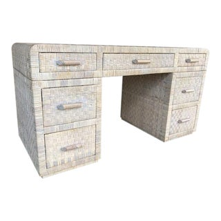 1980s Boho Chic Bielecky Brothers Partner Desk For Sale