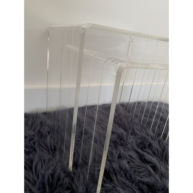1980s Lucite Nesting Tables - Set of 2 For Sale - Image 4 of 6
