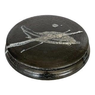Large Round Studio Pottery Ceramic Box For Sale