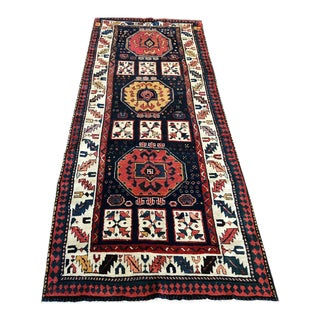 Early 19th Century Antique Persian Bakhtiari Runner Rug - 3′8″ × 9′ For Sale