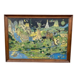 """1930 """"The Land of Make Believe"""" Landscape First Edition Print by Jaro Hess, Framed For Sale"""