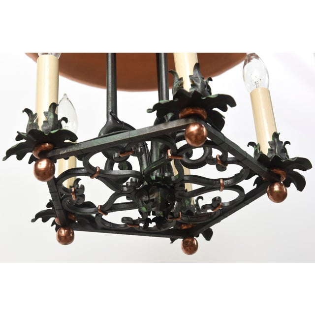 Copper and Verdigris Open Lantern For Sale - Image 11 of 12