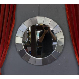 Pair of Round Polished Steel Framed Mirrors Preview