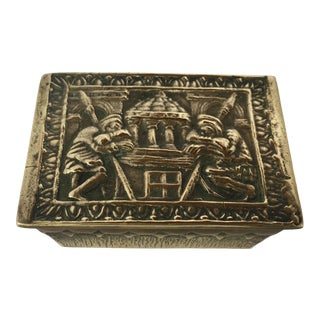 Max Le Verrier French Art Deco Bronze Jewelry Box For Sale
