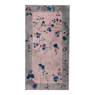 "Antique Art Deco Chinese Rug- 3'2"" X 5'6"" For Sale"