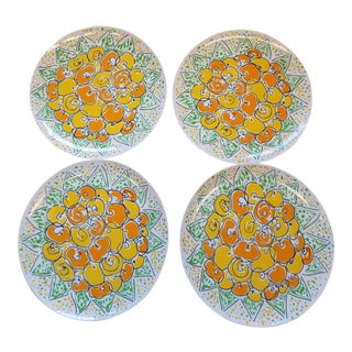 "1970s Gloria Vanderbilt ""Forever Thine"" Plates - Set of 4 For Sale"