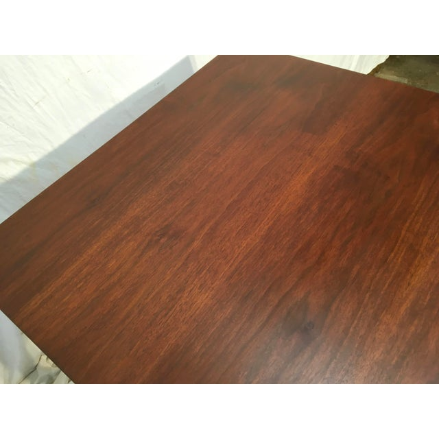 Edward Wormley Walnut Side Table - Image 8 of 11