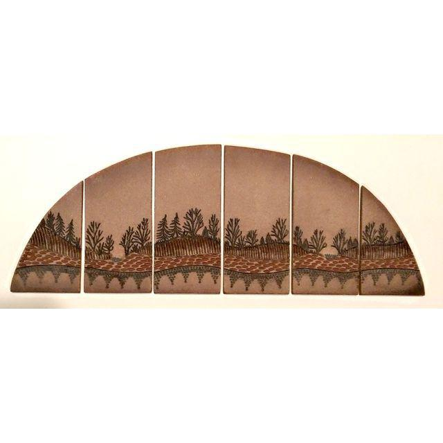 Mid-Century Signed Terra Cotta Tile Wall Art - Image 2 of 7