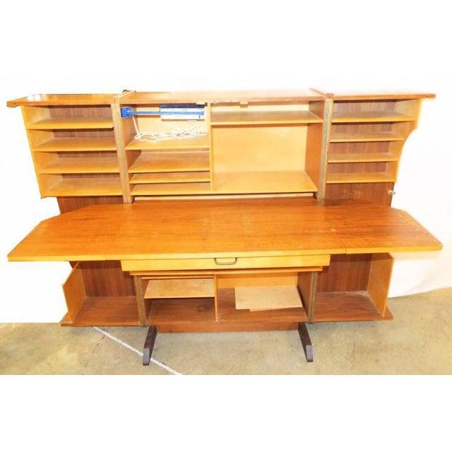Danish Modern Wooten Style Secretary Desk For Sale - Image 11 of 11