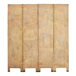 Set of Four Chinese Coromandel Screen Panels For Sale