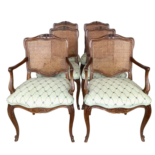 Vintage Kindel Borghese Dining Chairs - Set of 6 For Sale - Image 11 of 11
