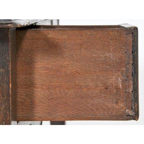 Early 20th Century Edwardian English Oak Dressing Table / Lowboy For Sale - Image 9 of 11