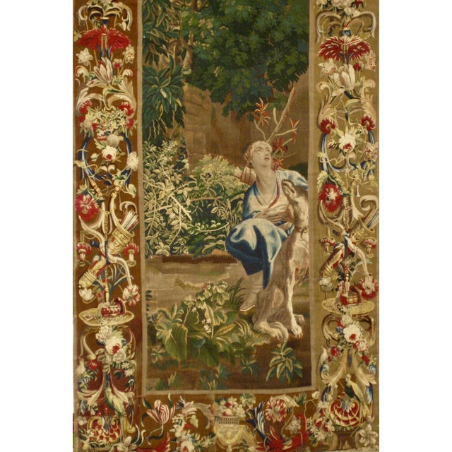 Baroque 1700s Beauvais Tapestry Wall Hanging For Sale - Image 3 of 13