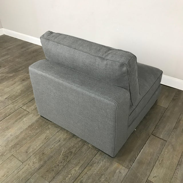 Gray Modern Armless Club Chair - Image 11 of 11