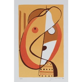"""Jane Mitchell """"Small Head"""" Abstracted Serigraph Abstract, 1972 1972 For Sale"""