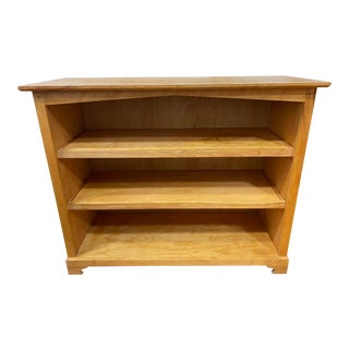 Custom Design Maple Wood Adjustable Bookcase For Sale