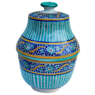 Ornate Moroccan Moorish Lidded Bowl For Sale