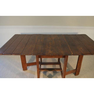 Branded (Signed) 1930's Mission Style Drop Leaf Gate Leg Table by Old Hickory Preview