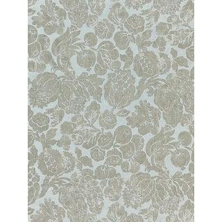 Scalamandre Elsa Linen Print, Silver on Skylight Fabric For Sale