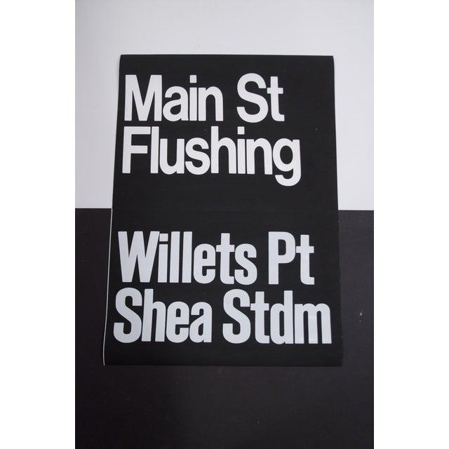 1980s 1980s Americana New York City Shea Stadium Subway Sign For Sale - Image 5 of 5