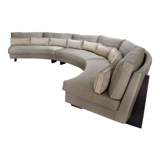 Semi-Circular Sectional Sofa by Umberto Asnago for Mobilidea, Italy For Sale
