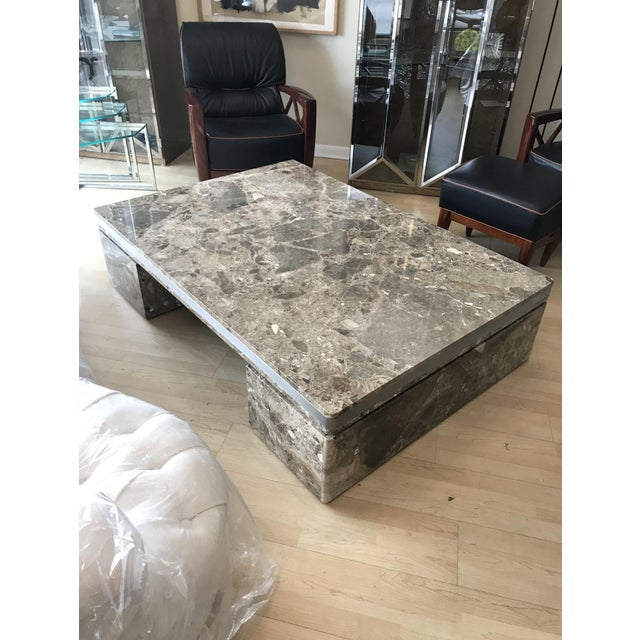 1980s Large Marble Coffee Table by Brueton For Sale - Image 5 of 6