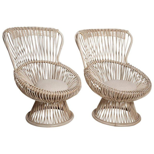 Restored Pair of 1950s Margherita Chairs by Franco Albini for Vittorio Bonacino For Sale - Image 9 of 9