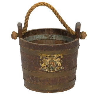 19th Century English Fire Bucket For Sale