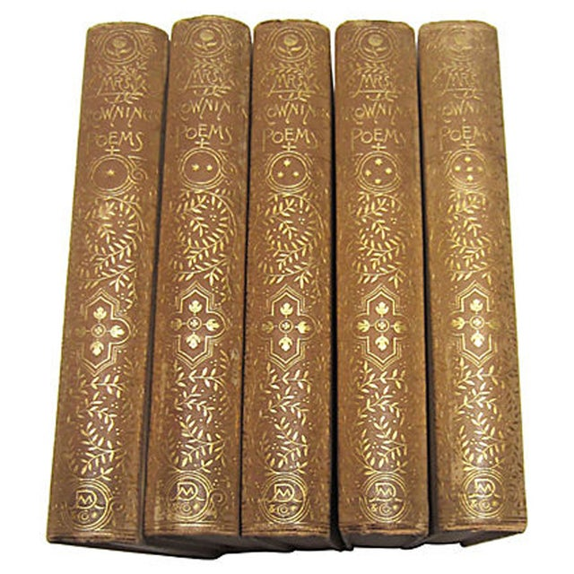 Elizabeth Barrett Browning Poetry - 5 Volumes - Image 3 of 7