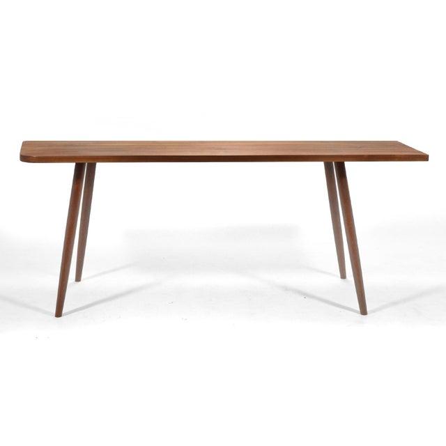 Mid-Century Modern Robert Lovett Walnut Studio Craft Table/ Desk For Sale - Image 3 of 11
